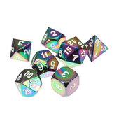 7pcs kleurrijke zinklegering veelhoekige dobbelstenen set bordspel multisided dices gadget