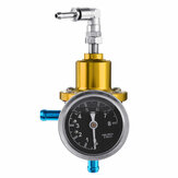 Universal Auto Car Fuel Adjustable Pressure Regulator 8 Kg/cm² with KPa Oil Gauge Kit Set