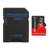 Microdata 64GB C10 U1 Карта памяти Micro TF с конвертером адаптера карты для TF в SD