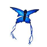 70x150cm Niebieski Piękny motyl Latawiec Zabawy na świeżym powietrzu Sport Latająca zabawka z paskiem kontrolnym 30M i linią