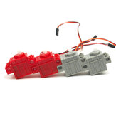 KittenBot®360°Red Color Geek Servo&270°Grey Color Geek Motor with Wire with Lego / Micro:bit