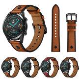 Bakeey 22mm Γνήσιο Δερμάτινο Ανταλλακτικό λουράκι Smart Watch Band για Huawei Ρολόι GT2 46MM