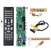 V56 Universal LCD TV Controller Driver Board PC/VGA/HD/USB Interface+7 Key Board+Backlight Inverter+1ch 6-bit 30pin LVDs Cable