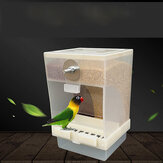 425ml/850ml Capacity Acrylic Parrot Integrated Automatic Bird Feeder Birds Feeding Box Birds Cage Accessories