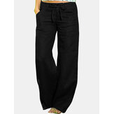 Women Casual Wide Leg Yoga Solid Pocket Pants