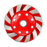 100mm Segment Diamond Grinding Wheel Disc Concrete Masonry Stone Marble Sanding Wheel Red