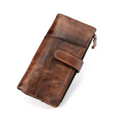 Men Faux Leather Fashion Long Wallet
