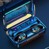 TWS bluetooth LED Digital Display Mini In Ear Earphone Wireless Hifi Music Headphones with Charging Case for Xiaomi Huawei