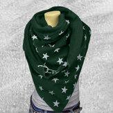 Cotone da donna Plus Spessore Mantieni caldo Inverno Outdoor Casual Stars Modello Scialle sciarpa multiuso