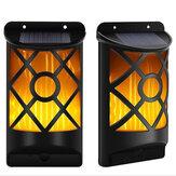 Outdoor Solar Garden Flame 96LED Light Flame Flickering Effect Outdoor Wall Lamp Waterproof