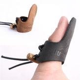 Luva protector de dedo do couro para a pesca de actividades ao ar livre proteção do dedo de couro
