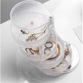 4-poziomowy obrotowy wyświetlacz 360 stopni etui na biżuterię pudełko do przechowywania organizer do przechowywania na biurko obrotowy uchwyt do przechowywania materiałów eksploatacyjnych