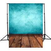 3x5FT Blue Board Wood Fotografia Background Backdrop Studio Photo Prop