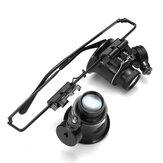 20X Büyüteç Büyüteç Göz Cam Büyüteç Lens Kuyumcu İzle Onarım Parçalar LED Lamba