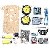 Kit de Châssis de Voiture Smart Robot avec Capteur de Vitesse Ultrasonic pour Arduino UNO R3