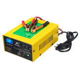 12V/24V 15A Auto Lead Acid Battery Charger Intelligent Pulse Repair LCD For Car Motorcycle