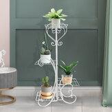 4 Tier Metallregale Blumentopf Pflanzenständer Pflanzenständer Halter Indoor Outdoor Home Garden Patio Decor
