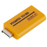 PS1 PS2 to HD Converter with 3.5mm Headphone Audio Jack 1080 Output for PS1 PS2 HDTV HD Monitor