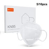 DIGOO DG-KN95 5/10PCS KN95 4 Layers Face Mask Anti Droplets Dust Car Exhaust Foldable Breathing Protective Mask Filter Respirator