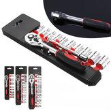 13 Stks 1/4 inch 3/8 inch 1/2 S Drive Socket Ratelsleutel Verlengstang Set Reparatie Tools