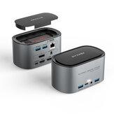 Docking station BlitzWolf® BW-TH12 14-in-1 con contenitore SSD M.2 SATA 3.0 NGFF HD Tripla 4K / 60HZ Display USB 3.0 1000Mb / s RJ45 Interfaccia Ethernet