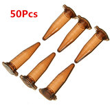 50Pcs 1.5mL Conical Bottom Centrifuge Tube Graduated Brown Polypropylene EP Tube
