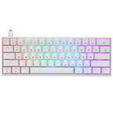 Geek Customized GK61 61 Keys Mechanical Gaming Keyboard Hot Swappable Gateron Optical Switch RGB Type-C Wired Programmable 60% Layout Gaming Keyboard
