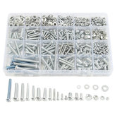 M3 M4 M5 M6 Stainless Steel Phillips Round Head Screws Nuts Flat Washers Assortment Kit 900g