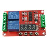 5V 12V 24V 2 Channels Multi-function Relay Module/Time Delay/Self Lock/Cycle/Timing Relay Module PLC Control