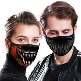 1Pc Couple Digital Printing Anti Particle Dust-Proof PM2.5 Face Mask Breathable Unisex Reusable Washable Mouth Mask Cycling Hiking