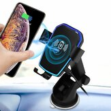 Universal 10W Qi Wireless Fast Charge Gravity Auto Lock Suction Car Holder for iPhone Mobile Phone