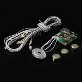 Hoomeda Voice Activated Light Dollhouse Part Button Cell Bateria Light With Wires