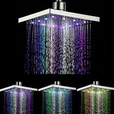360° Adjustable Chrome Water Temperature Controlled Multi-Color LED Shower Head 6 Inch