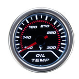 52mm 2 Inch Universal Car Smoke Lens LED Pointer Water Oil Temperature Temp Gauge Meter