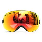 Occhiali da sci per moto Anti Protezione antinebbia UV Dual-Lens Off-Road Snowboard Black Frame