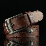 110CM Mens PU Leather Cowboy Belt Leisure Waistband