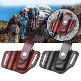 XANES® EDC Leather Sheath for Multitool Sheath Pocket Organizer με στήριγμα κλειδιού για ζώνη και φακό