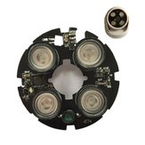 4 stks LED 850nm IR Lichten 75 Bullet Camera Conch Halfrond Camera Infrarood Illuminator Board