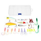 ZANLURE 18/20/22/28/29/33 Pcs Fishing Lure Set Fish Bait And Fish Hook Set Multifunctional Fishing Accessories With Box