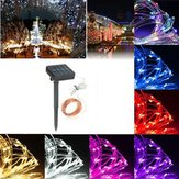 13M 120LED Solar Copper String Fairy Light Wedding Party Christmas Garden Outdoor Lampa IP67