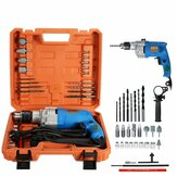 220V 2200W Electric Impact Drill Kit Waterproof Power Drill Household 13mm Chuck 28Pcs
