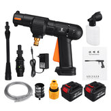 25V Cordless High Pressure Washer Rechargeable Car Washing Machine Cleaner Water Sprayer Guns w/ 1/2 Battery