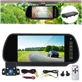 7 `` vue arrière de voiture LCD moniteur + 4 LED Kit de vision nocturne de caméra de recul de recul