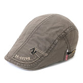 Mens Cotton Embroidery Letter Rivet Berets Caps Casual Sport Visor Golf Hat