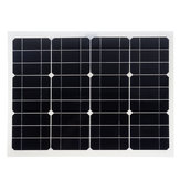 Ηλιακά πάνελ Διπλή διασύνδεση USB 30W 12V / 5V DC Κροκόδειλος κλιπ Four Heads Monocrystalline Solar Panel