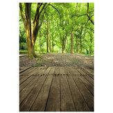 3x5FT forêt paysage bois plancher vinyle toile de fond photographie Prop Photo fond