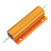 RX24 100W 2R 2RJ Metal Aluminum Case High Power Resistor Golden Metal Shell Case Heatsink Resistance Resistor
