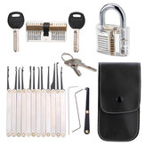 DANIU Unlocking Lock Opener Kit Locksmith Training Transparent Practice Padlocks Tools