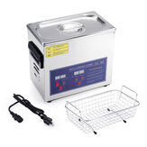 3.2L 120W Ultrasonic Cleaner Digital Timer Stainless Steel Bath Jewelry Glasses Watch Cleaning Machine