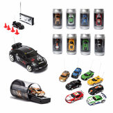 Mini Can Remote Radio Control Racing RC Car Vehicles Model LED Light